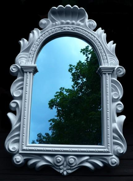 White Regency Mirror