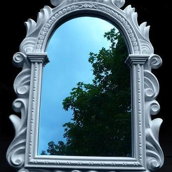 White Regency Mirror