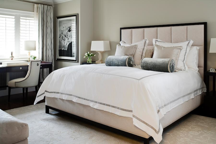 white hotel bedding transitional bedroom jennifer worts design