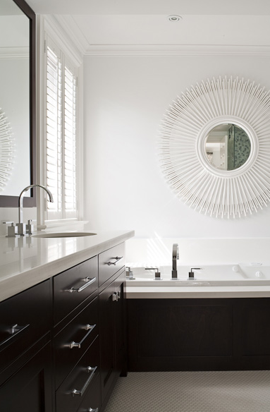 Espresso Vanity Contemporary Bathroom Jennifer Worts Design