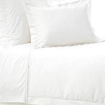 Pine Cone Hill, Classic Hemstitch White Duvet Cover