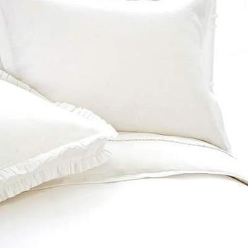 Pine Cone Hill �?» Linen White Duvet Cover