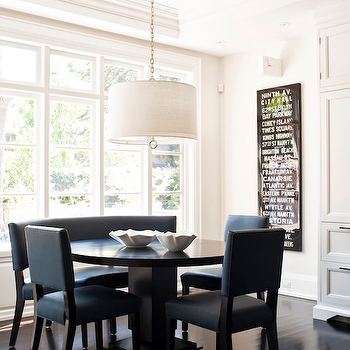 Blue Dining Chairs, Transitional, dining room, Jennifer Worts Design