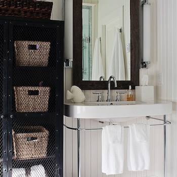 Beadboard Bathroom, Cottage, bathroom, Jennifer Worts Design