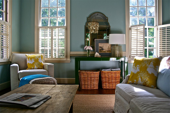 Perfect Living Room   Benjamin Moore Wythe Blue Part 16