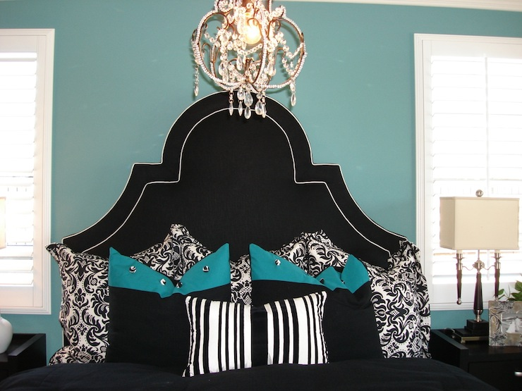 Black Tufted Headboard Contemporary Bedroom Modern Chic Home