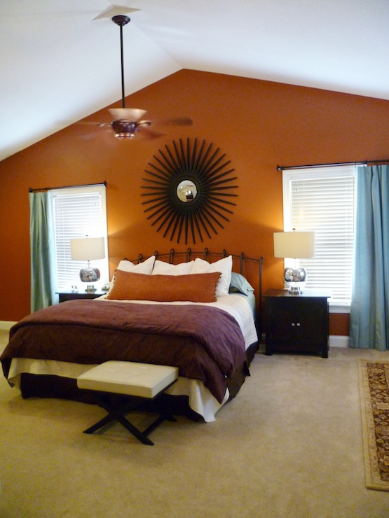gallery for orange and brown bedroom