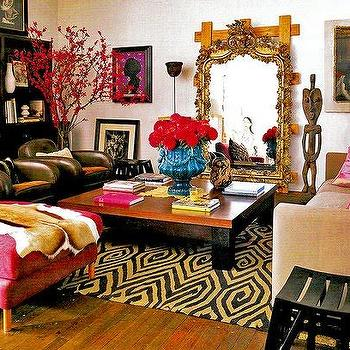 Orante Floor Mirror, Eclectic, living room
