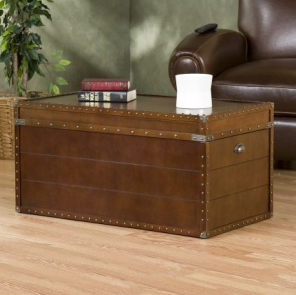 Overstock Steamer Trunk/ Cocktail Table View Full Size