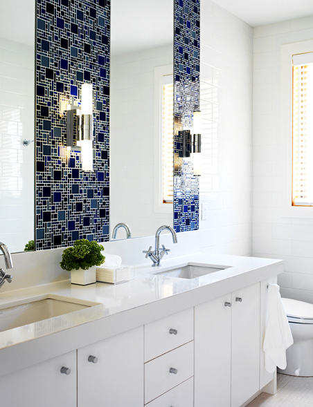 Lastest Bathrooms White Tile Blue Gray Updated Bathroom Pictures To Pin On