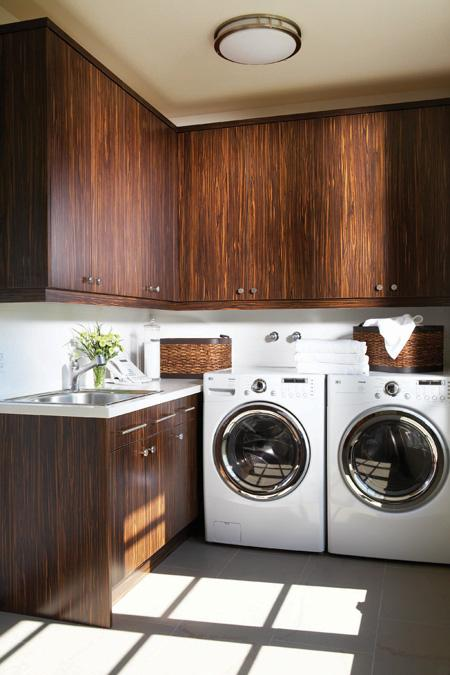 Veneer Cabinets Contemporary Laundry Room Douglas Design Studio