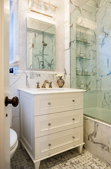 Calcutta Marble Contemporary Bathroom Jennifer