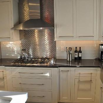 Stainless Steel Subway Tiles, Contemporary, kitchen