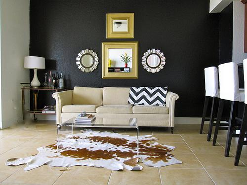 Black Walls Contemporary Living Room Valspar New Black