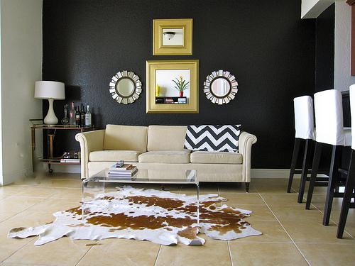 Black walls contemporary living room valspar new black - Black wall living room ...