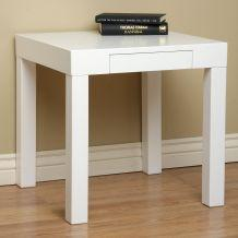 Marvelous Lachlan Glossy White End Table Overstock Com Download Free Architecture Designs Lukepmadebymaigaardcom
