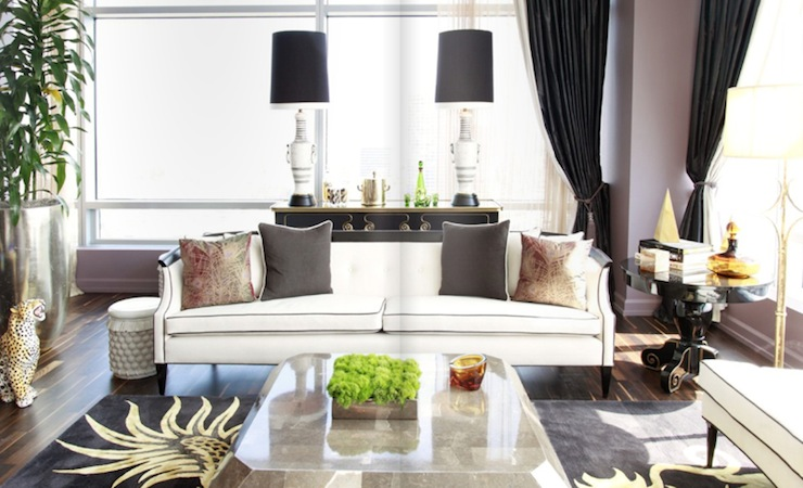 Hollywood Regency Sofa - Contemporary - living room - Rue Magazine