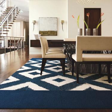 Buy Patterned Sophistikat Cobalt Carpet Tile At FLOR