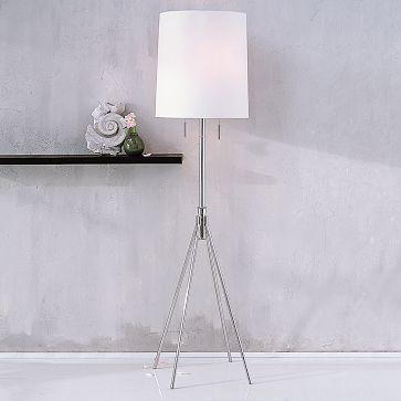 West elm metal 4 legs floor lamp west elm polished metal floor lamp aloadofball Image collections
