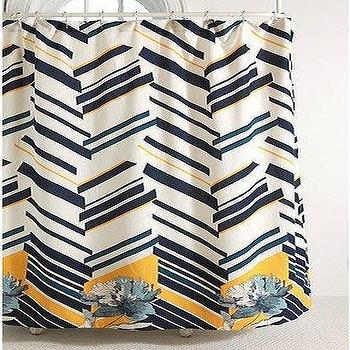 UrbanOutfitters.com > Zigzag Floral Shower Curtain