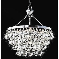 Indoor 5 light luxury crystal chandelier overstock aloadofball Images