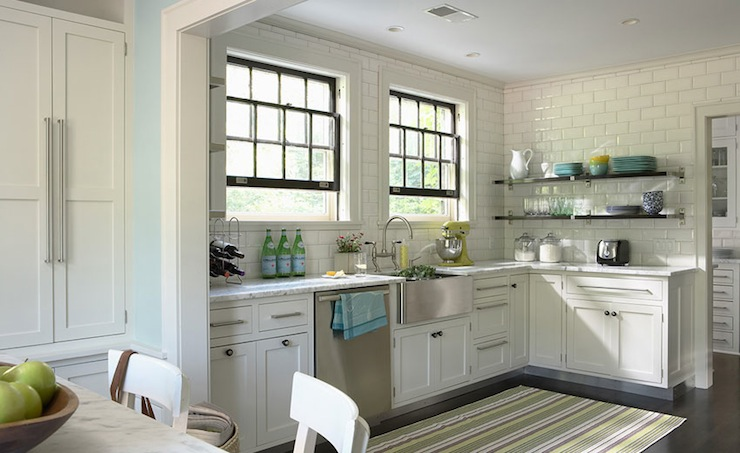 Ceiling Height Backsplash, Transitional, kitchen, This Old House
