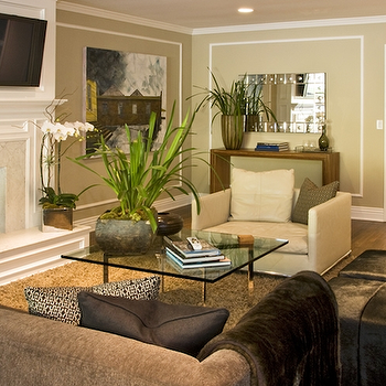 Barcelona Table, Contemporary, living room, Jeff Lewis Design