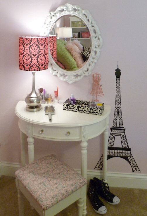 Half Moon Vanity Traditional Girls Room Sherwin