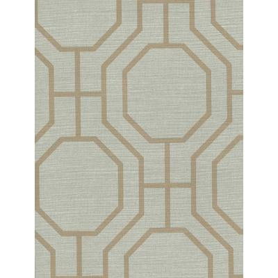 Tan Octagonal Pattern Wallpaper