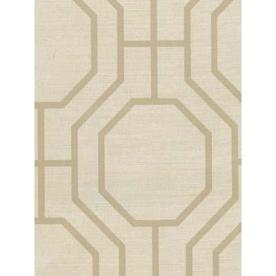 Beige And Cream Octagonal Pattern Wallpaper