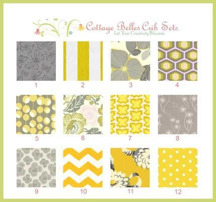 Yellow gray template color theme for Yellow nursery fabric