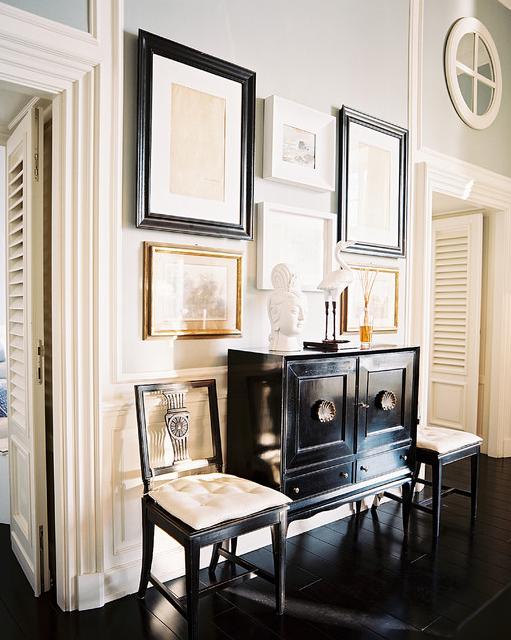 Black Lacquered Cabinet, Transitional, Living Room, J.K