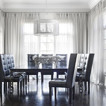 Black Tufted Dining Chair, Contemporary, dining room, Sarah Dorio