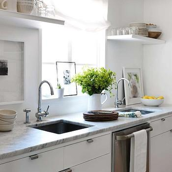 Kitchen with Double Sinks, Transitional, kitchen, Lindsey Meadows