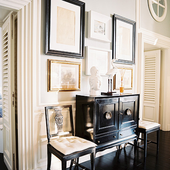 Black Lacquered Cabinet, Transitional, living room, J.K. Place Hotel