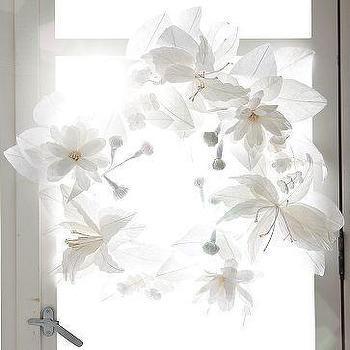 Paper Flower Wreath, west elm
