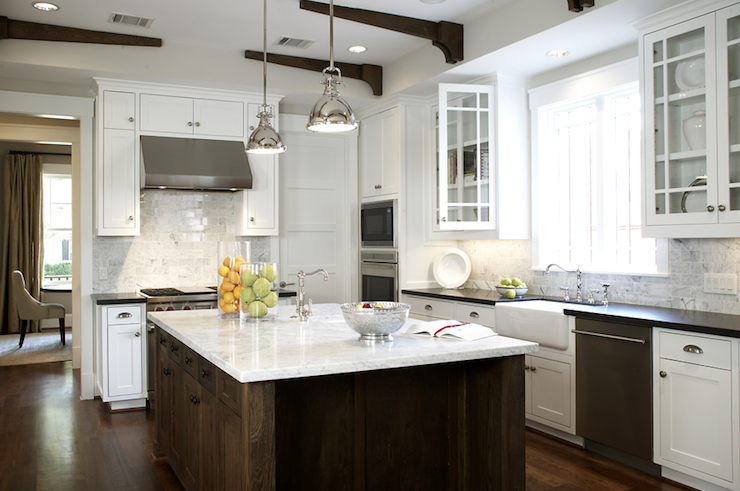 Yoke Pendants With Small Shade Transitional Kitchen