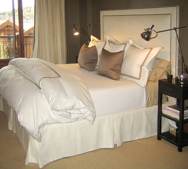 Taupe bedroom contemporary bedroom ashley goforth design for Black white taupe bedroom