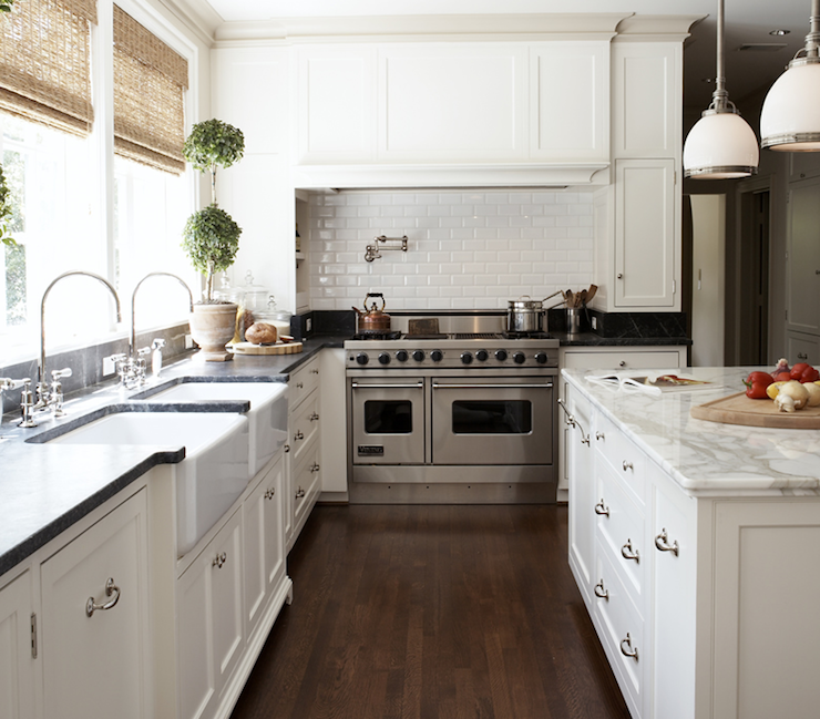 Black With White Wash Kitchen Cabinets: Double Kitchen Sinks