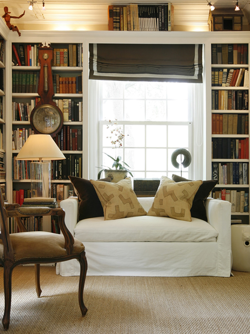 Floor to Ceiling Bookcases, Transitional, den/library/office, Ashley Goforth Design