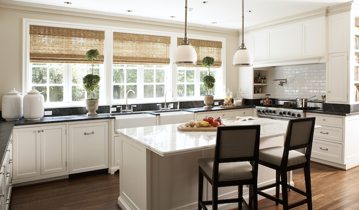 Kitchen with Two Sinks, Transitional, kitchen, Ashley Goforth Design