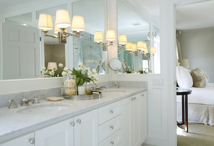 Sconces On Mirror Transitional Bathroom Ashley