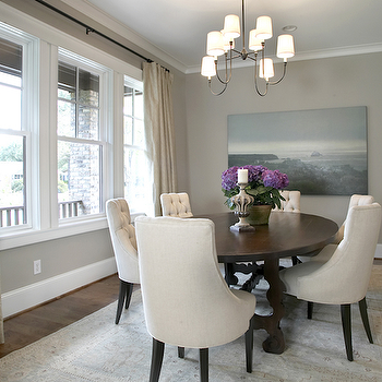 Tufted Dining Chairs, Transitional, dining room, Ashley Goforth Design