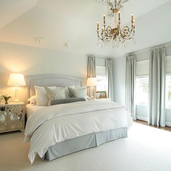 Blue Bedskirt, Traditional, bedroom, Ashley Goforth Design