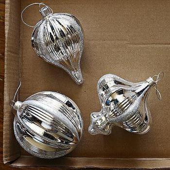 Mercury Shape Ornaments, west elm