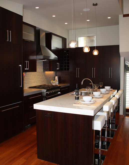 Espresso KItchen Cabinets - Contemporary - kitchen