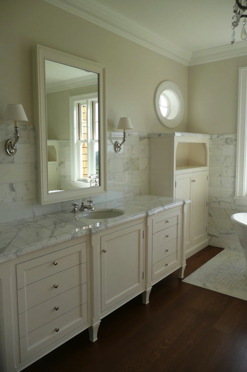 Cream cabinets design ideas for Colors for bathroom cabinets