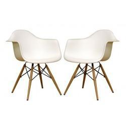 Set of 2 Eiffel Molded Wire Base Wood Leg Dining Chair, Modern furniture, Interior Trade furniture