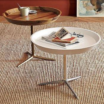 Cast-Iron Base Tray Side Table, west elm