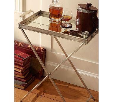 Charming Tessa Mirrored Tray Table   Pottery Barn